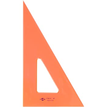 Alvin, Triangle Ruler with Fluorescent Edges, Drafting Tool Kits - 10-inches, 30/60 Angle