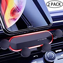 IHUIXINHE Universal Car Phone Holder,Air Ventor or Dashboard Phone Holder for Car, Handsfree Cell Phone Car Mount Compatible with iPhone Xs Max XR X 8 7 Plus 6S 6 SE, Galaxy S9 S8 S7 Edge, Mini Tablet