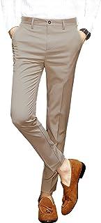 FOMANSH スラックス メンズ 美脚 無地 スラックス 薄手 大きいサイズ ストレッチ ロングパンツ 9分丈 ビジネスパンツ ウォッシャブル スーツパンツ 春夏 秋 通勤
