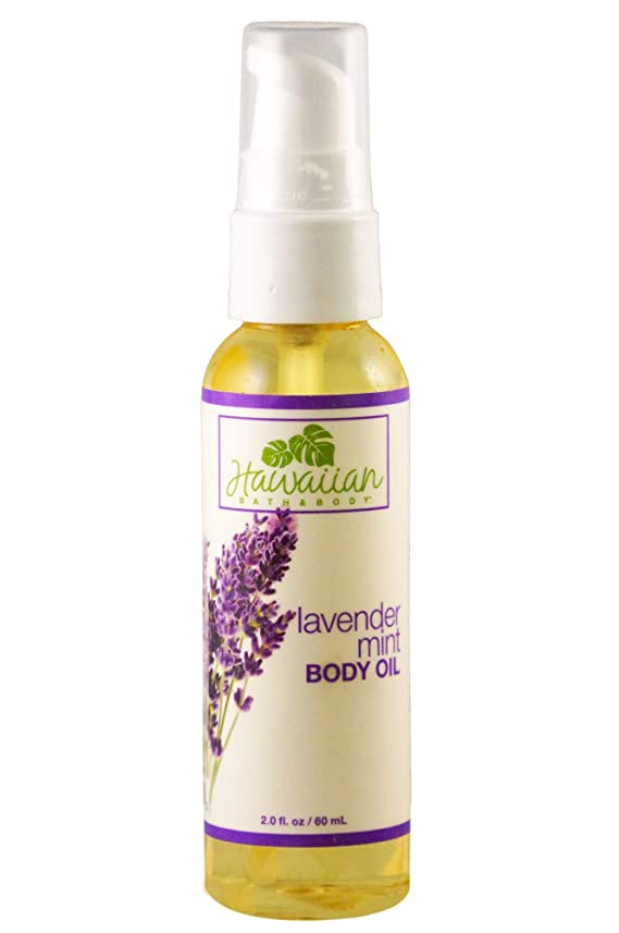行商再びファセットハワイアンバス&ボディ ラベンダーミント?ボディオイル 60ml Lavender Mint Body Oil