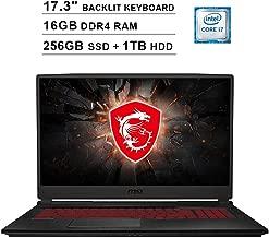 2019 Newest MSI Raider GL75 17.3 Inch FHD 1080p Gaming Laptop (Inter 6-Core i7-9750H up to 4.5GHz, 16GB DDR4 RAM, 256GB SSD (Boot) + 1TB HDD, GeForce GTX 1660 Ti 6GB, Backlit KB, Webcam, Windows 10)