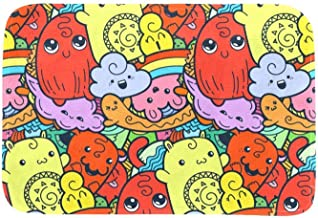 EGGDIOQ Doormats Cute Dolls Custom Print Bathroom Mat Waterproof Fabric Kitchen Entrance Rug, 23.6 x 15.7in
