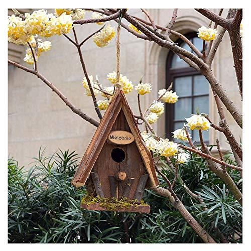 SUIBIAN Hölzerne Vogel-Haus, Garten Dekoration Villa Hof Garten Landschaft Massivholz-Simulation Vogel-Nest-Vogel-Haus-Bauernhof-Kindergarten im Freien Ornamente