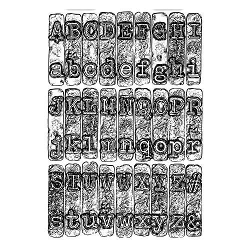 Sizzix 3 D Texture Fades Prägeschablone 664760 Schreibmaschine von Tim Holtz One Size Cutting dies, Multicolore, Einheitsgröße