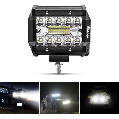 Safego 4 60w Led Arbeitsscheinwerfer Zusatzscheinwerfer 4800lm Led Auto Scheinwerfer Arbeitslicht Offroad Suv Atv 12v 24v Ip68 Wasserdicht Car Led Work Light Spotlight 1 Jahr Garantie Auto