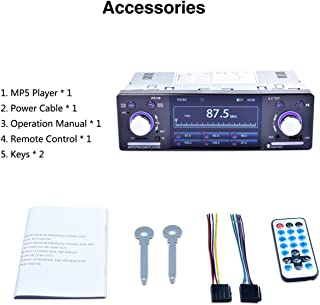 """4.1"""" HD LCD 800 * 480 Car MP5 Player 1080P 7 Color Button Back Light Mirror Link FM/AM/RDS Tuner RK-7157B"""
