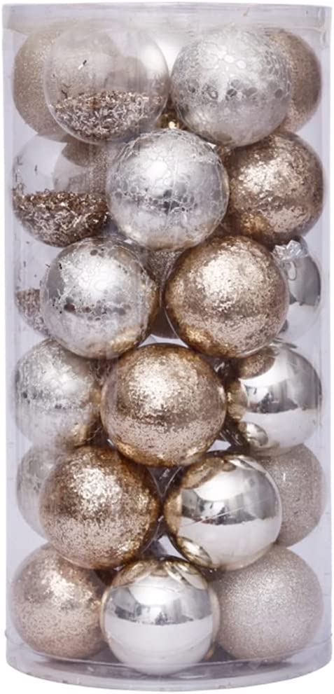 Licogel Christmas Ball Tampa Mall Ornament Plastic 30PCS Sales of SALE items from new works 2.36in De Creative