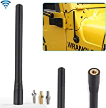 JeCar 7.5Inch Stubby Reflex Short Antenna Replacement TJ JK JL F150 Accessories Metal ABS Antenna Designed for Optimized FM/AM Reception for 1995-2019 Jeep Wrangler TJ JK JL Ford F150