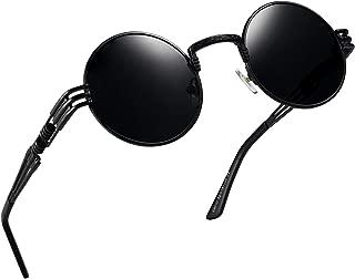 RANHUU Steampunk Round Sunglasses for Men and Women John Lennon Glasses Circle Metal Eyewear