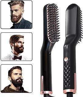 Martinimble 3-in-1 Ionic Straightening Multifunctional Hair Styler Hair Straightening Brush Comb Beard Straightener Brush for Men Women for Home Use and Great for Travel