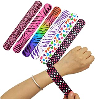 JoJo Slap Bracelet Toy Party Gift 25pcs Animal Symbol Heart-Shaped Pattern for All Kinds of Party Concert School Gifts