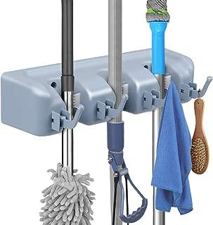 Phoenixee BroomHolderWallMount, Broom Holder For Garden, Garage, Multifunctional MopHolderWallMounted, BroomHolderBrackets Equipped with Screws, BroomHolderBrackets (3 Position, 4 Hooks)