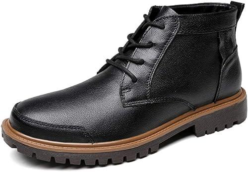 BND-chaussures , Bottines Mode pour Hommes Hommes Décontracté léger et Bottes Montantes décontractées (Warm Velvet en Option) Durable; Supporter l'usure (Couleur   Noir, Taille   38 EU)  le plus préférentiel