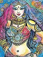 ダイヤモンド絵画の肖像画DIYダイヤモンド刺繡ラインストーンの宗教的な女の子の写真フルスクエアモザイク家の装飾