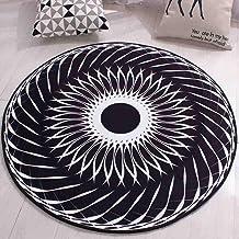 Polyester Carpet Round Non-Slip Wear-Resistant Durable Rugs Floor Mat for Bedroom Living Room Study,2,60cm