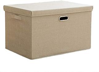 Boîtes de rangement, organisateur de bacs de rangement pliable Organisateur Cube Bakset Home avec couvercle amovible for l...