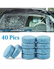 HSR Car Wiper Detergent Effervescent Tablets Washer Auto Windshield Cleaner Glass Wash Cleaning Compact Concentrated Tools, 10 Pieces/1Set
