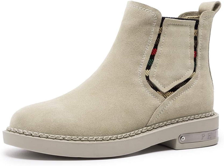 AdeeSu Womens Bucket-Style Low-Heels Solid Urethane Boots SXE04448