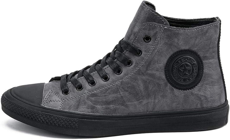 nynesshop läder mode High blast Manliga Stövlar Stövlar Stövlar Män Casual skor Vattentäta spetsbyxor på platta solida skor  försäljningsförsäljning