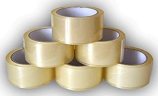 Generic 6 rollen pakkettape tape tape doorzichtig 50 mm x 66 m