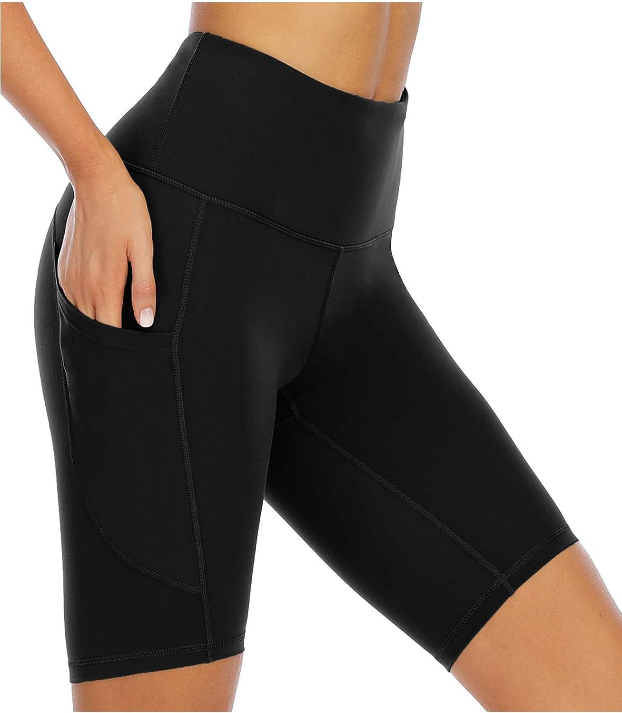 Oklahoma 4 years warranty City Mall XIEERDUO Women's 8'' Biker Shorts with Yoga T Pockets High Waist