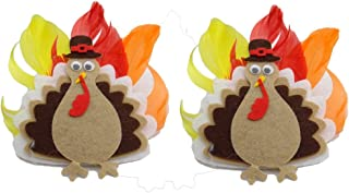 Thanksgiving Turkey Headband Turban Baby Girls Hair Bow Band Accessory JHT01
