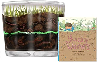 Nature Gift Store Kids Worm Farm Plus Book Bundle- Shipped with Live Worms