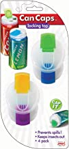 Soda Can Covers 4 Pack for Carbonated Water or Soft Drink - Best Beer Cans Cover Easy Clip on Caps Lid Seal Opening for a Fresher Drinking Experience