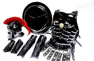 Medieval 300 Spartan Helmet Roman King Leonidas Muscle Armor Shield Leg or Arm Guard Black
