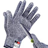 Apaffa 2PCS Cut Resistant Gloves Level 5 Protection for Kitchen, Cutting Gloves