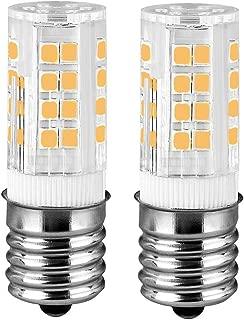 fuda lamp E17 LED T7 T8 Intermediate Base LED Appliance Bulb T8 T7 Lightbulb Dimmable 110 Volt - 130v Pack of 2 Microwave Oven Light Bulbs(Warm White 2 Pieces)