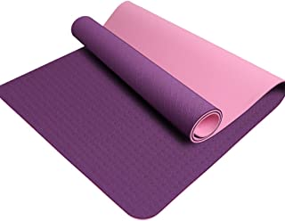 Yoga Mat with Carry Strap Non Slip Exercise Mat Classic Pro Eco Friendly TPE Fitness Mat for Women Men Home Workout Yoga, ...