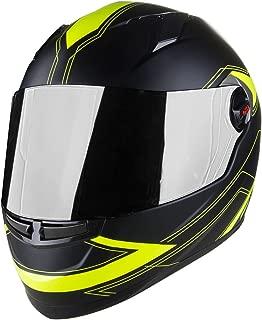 Voss 999 Bandito Full Face Gloss Apex Helmet with Iridium Face Shield - M - Gloss Apex High Visibility
