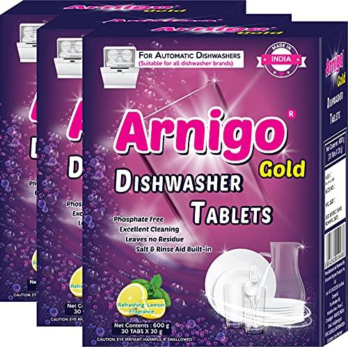 Arnigo Gold Dishwasher Detergent Tablets (90 Tabs) | Phosphate Free | Sparkling Shine |