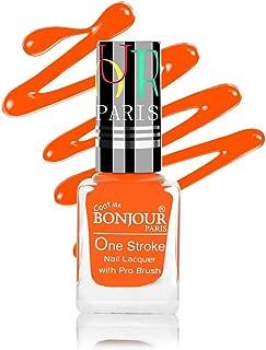 Coat Me Bonjour Paris Satin Matte Finish Nail Polish with Quick Dry Formulation (Fluorescent Neon Orange, 9 ml)