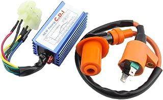 GOOFIT 6Pin CDI Ignition Coil Set for Yerf Dog GY6 50cc 60cc 80cc 125cc 150cc Go Kart ATV Scooter Go Kart