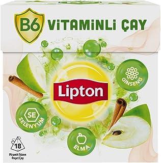 Lipton B6 Vitaminli Elma Aromalı Bardak Poşet Bitki ve Meyve Çayı 18'li