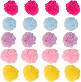 HEALLILY 50pcs Pompoms Ball Charm Colorful Plush Ball Pendant DIY Craft Hat Clothes Hand Making Pom Pom Balls for Clothing Art Craft Supplies