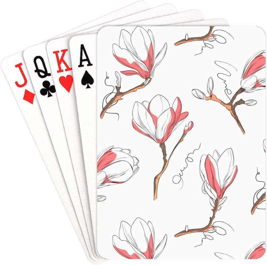 Now on Free shipping anywhere in the nation sale WUTMVING Playing Card Games White Magnolia Spring Custom in Play