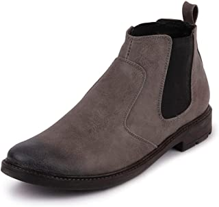 FAUSTO Men's Leather Chelsea Boots