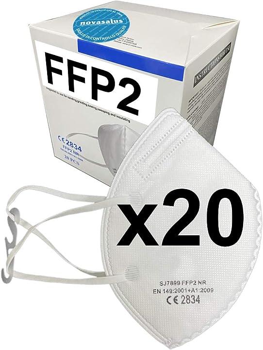 Mascherine ffp2 certificate ce 2834 - confezione da 20 pezzi FFP2 SJ7899