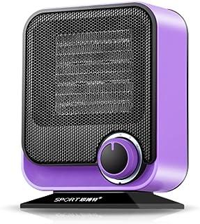 XF Calefactores y radiadores halógenos Calentador: pequeño electrodoméstico de bajo Consumo, Mesa de baño, Calentador de Material PTC púrpura (17.2cmX 9cmX22cm) Climatización y calefacción