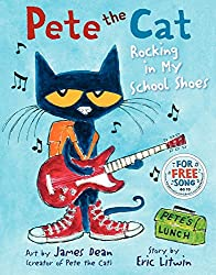 Pete the Cat Rock in My School Shoes Book for Back to School