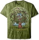 The Mountain Guitar Tree Adult T-Shirt, Green, XL
