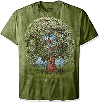 The Mountain Guitar Tree Adult T-Shirt Green XL