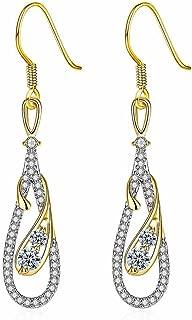 Lady Gift Round Ruby Or Blanc Plaqué Boucle d/'oreille fashion goutte Boucles d/'oreilles PROMOTION