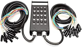 Seismic Audio - New 16 Channel XLR Send Splitter Snake Cable with Box - Two Trunks 15' and 30' Fantails - Pro Audio Stage, Studio, Road Split Y Extension Cables