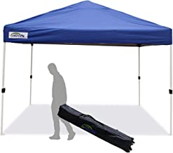 Goutime Pop-up Instant Shelter Canopy, Outdoor Party Tent,10x10 feet with Wheeled Carry Bag (Blue)