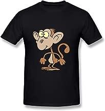 SNOWANG Men's Funny Cartoon Monkey T-shirt