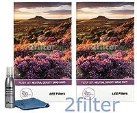 LEE Filters 100mm ソフトエッジ ハードエッジ グラデーション ニュートラルデンシティーセット フィルター2個 クリーニングキット 100x150mm